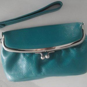 Latico Turquoise Leather Wristlet Clutch